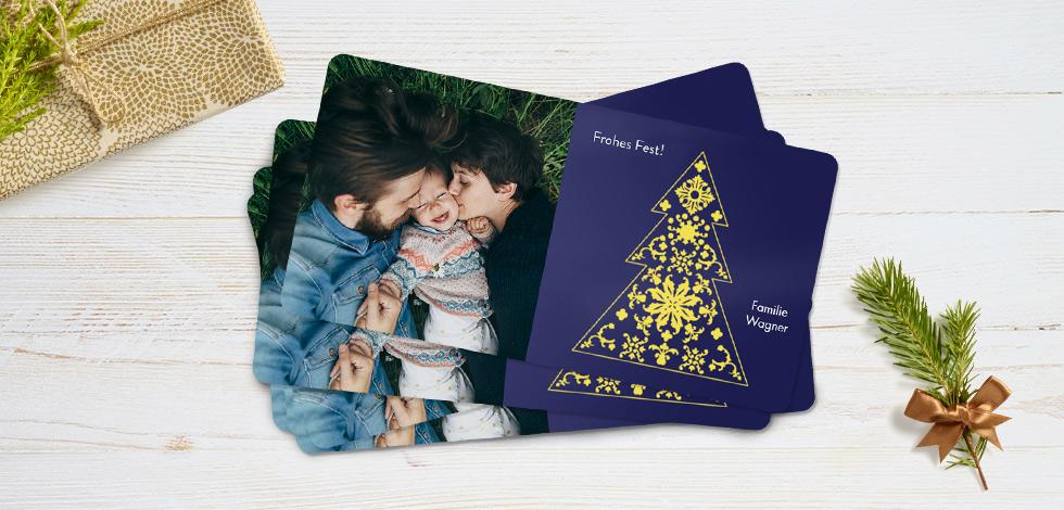 Weihnachtskarten Mit Eigenem Bild.Weihnachtskarten Mit Foto Die Bezaubern Jetzt Individuell Erstellen