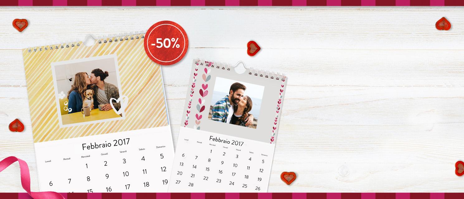 Calendari: 12 mesi speciali : -50% sui Calendari Classici A4 e A5 Codice: 50CAL117