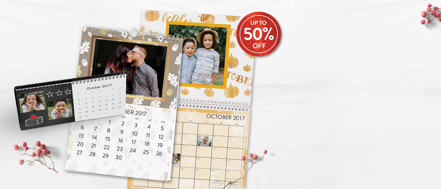 Calendars for every room : How to make your best year ever: savings of up to 50% on calendars!Offer ends 29/10.