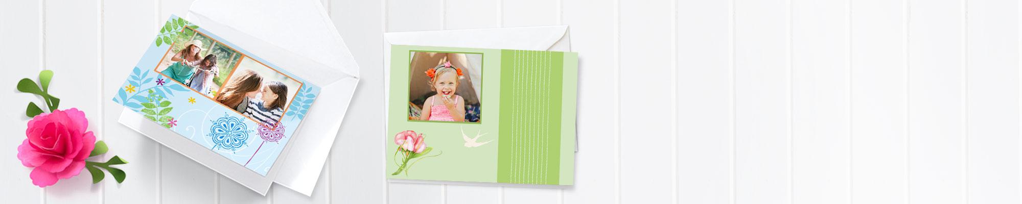 Biglietti d'Auguri Biglietti d'auguri personalizzabili con le tue foto. Nuovi design ed elementi decorativi per i tuoi momenti di festa!