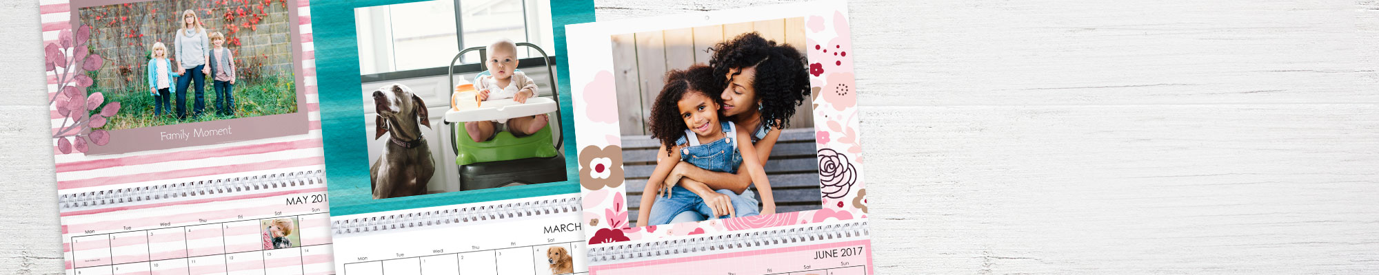 Photo calendars Enjoy 365 days of your favourite photos personalised with new fonts, designs and backgrounds.