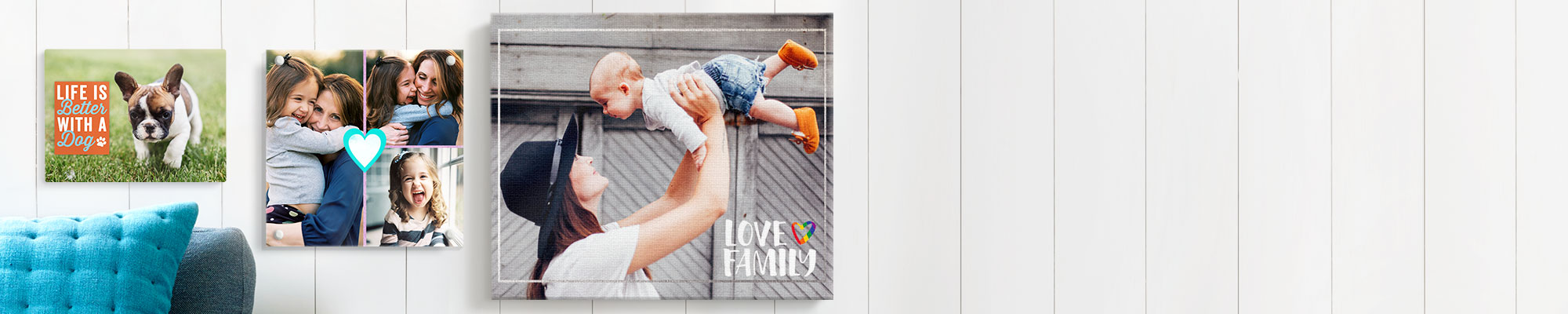 Wall Art Our selection of personalised wall art and canvas prints are a great way to easily add a splash of colour to your walls this Spring.