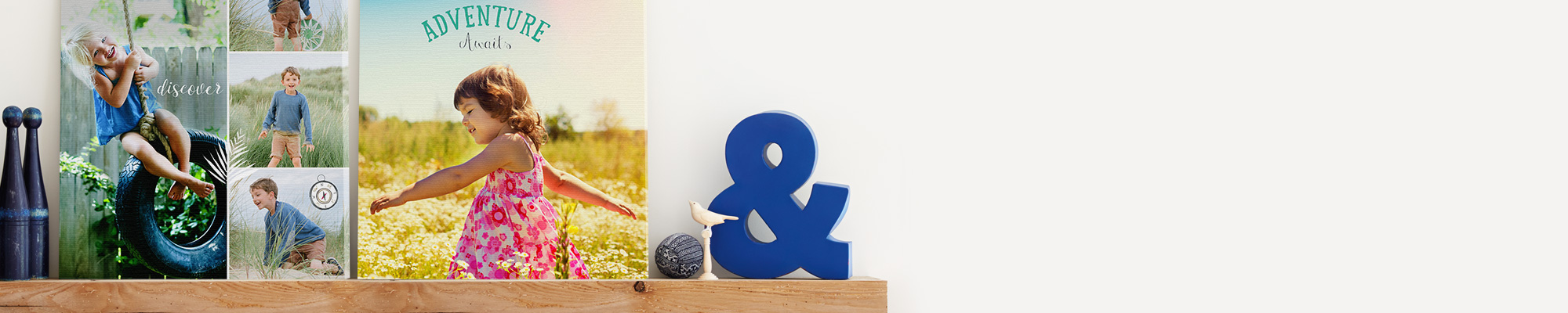 Canvas Prints Our selection  of personalised wall art and canvas prints are a great way to easily add  a splash of colour to your walls this Summer.