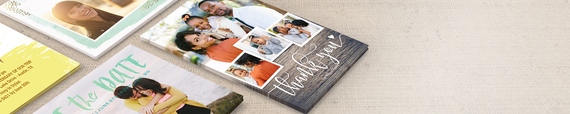 Photo Cards Embrace autumn with warm tidings and meaningful get-togethers.