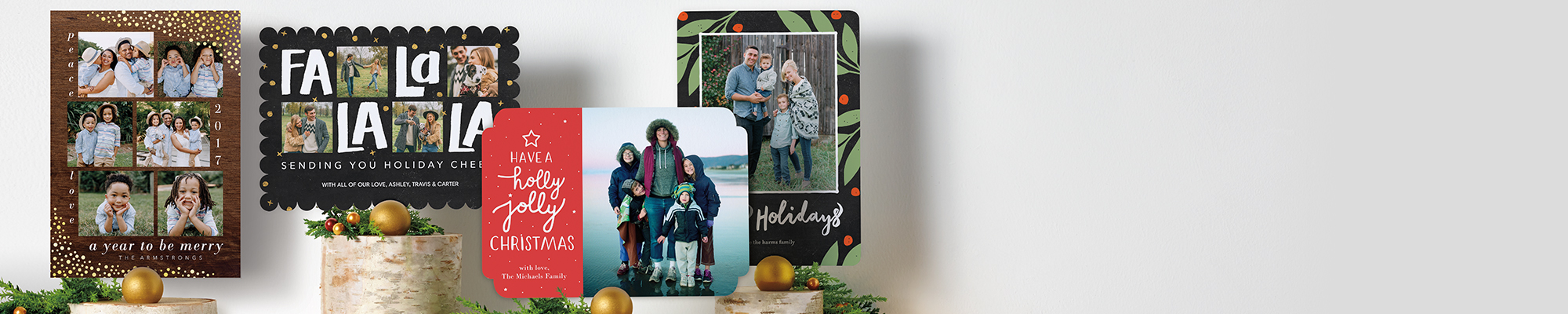 Photo Cards Send season's greetings with stunning designs fit for every fridge and mantel.