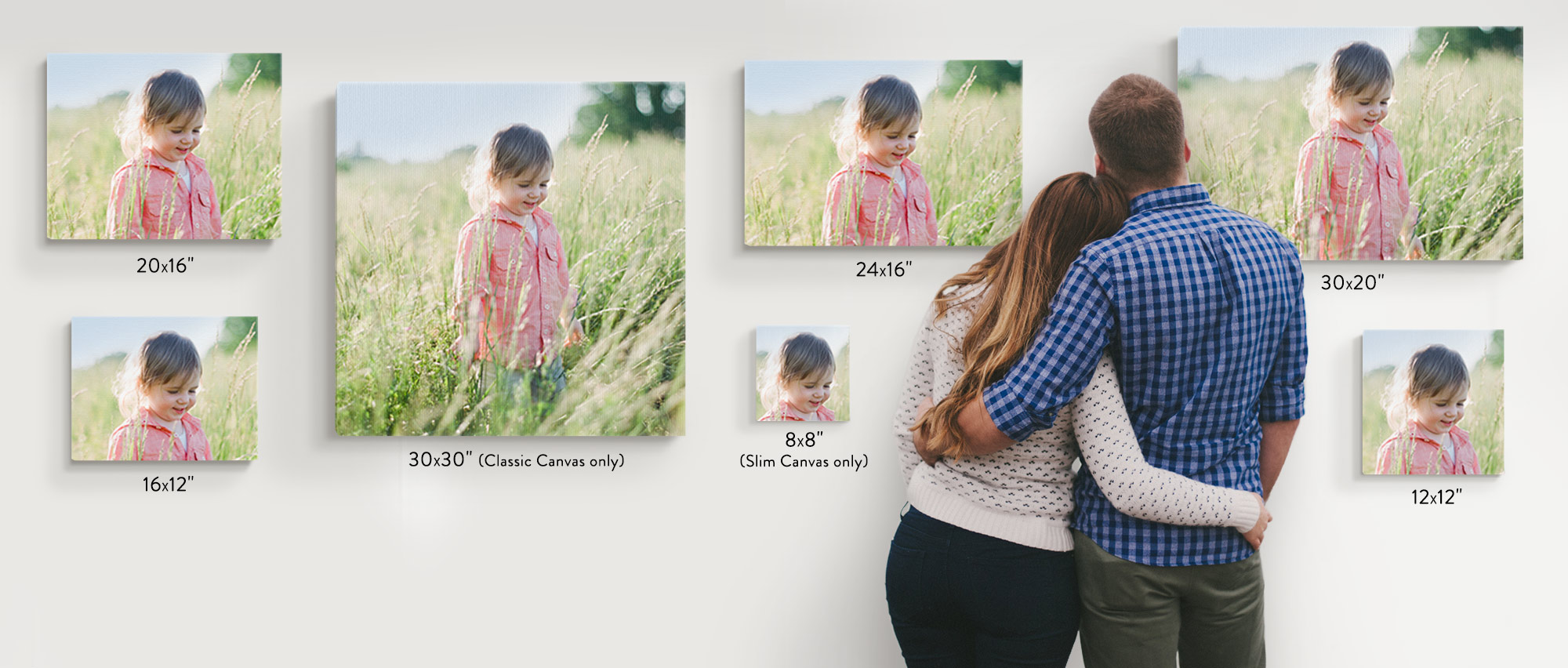 Canvas print sizes