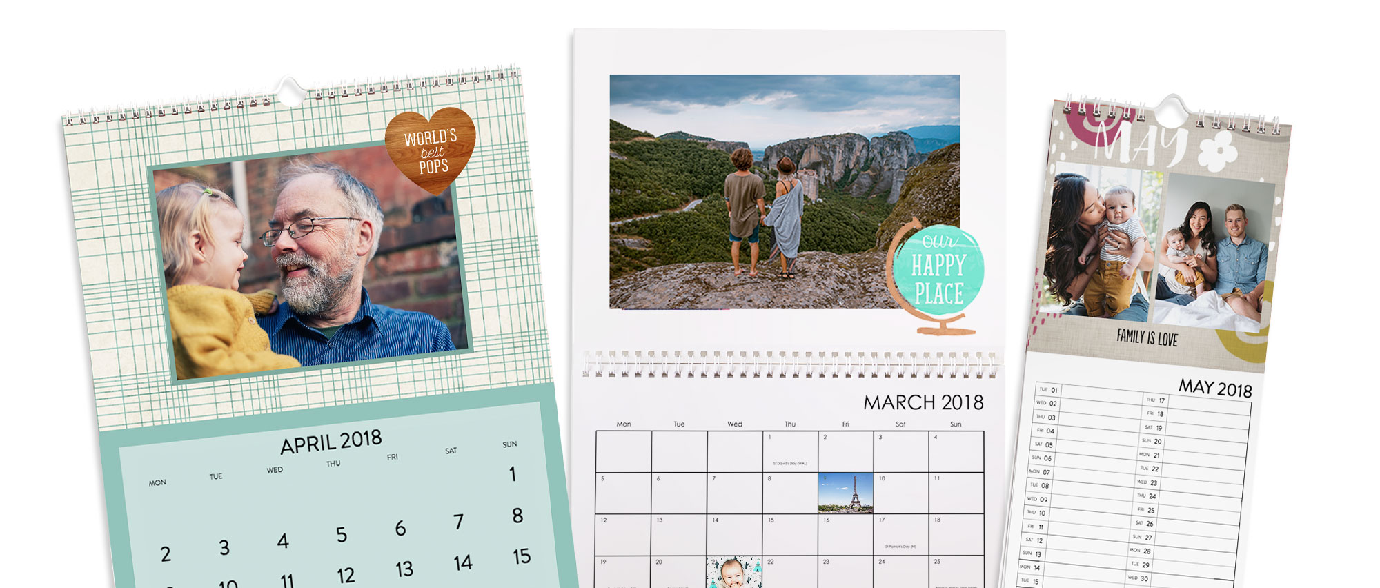 Calendar background designs, patterns and colours
