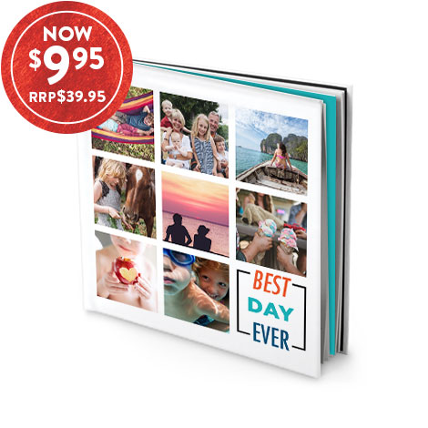 TV OFFER: 20X20CM HARDCOVER BOOK