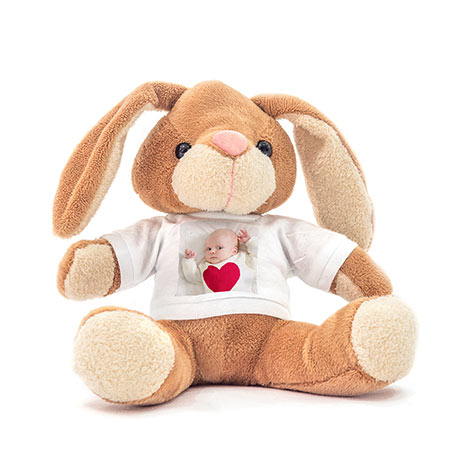 PELUCHE LAPIN PHOTO
