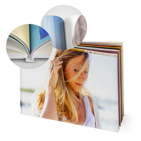 "12x12"" Square Hardcover Glossy Photo Book"