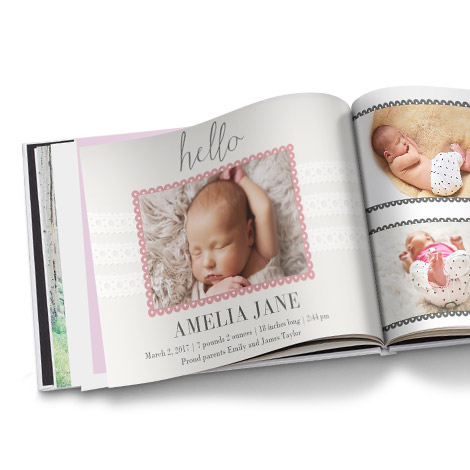 Personalised baby gifts with your photos snapfish uk hello baby girl negle Image collections