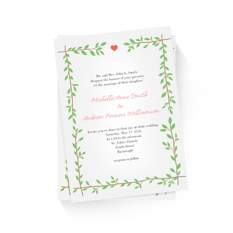 Branches Frame Invitation