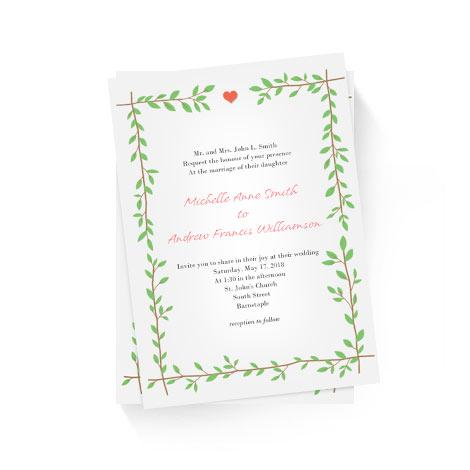 Branches Frame Invitation