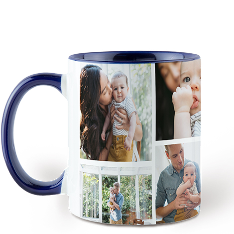 Icon Collage Navy Colorful Mug, 11 oz.