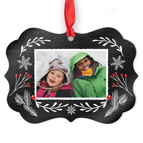 Aluminum Medallion Photo Ornament