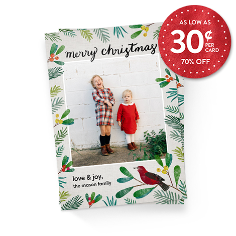 70% off 5x7 Flat Photo Cards - Standard Cardstock