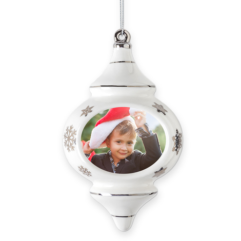 Porcelain Finial Christmas Ornament
