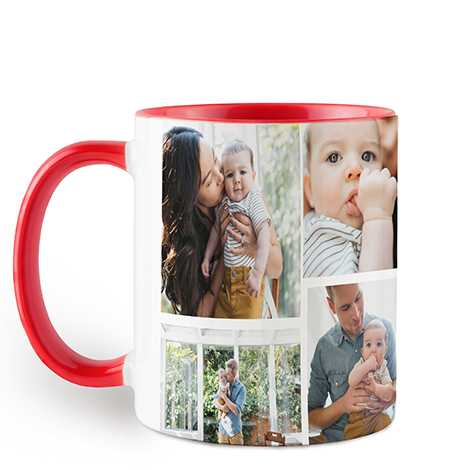 Icon Collage Red Colorful Mug, 11 oz.