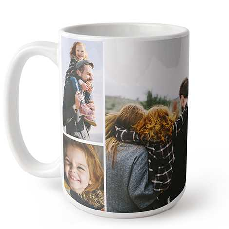 Icon Collage Photo Coffee Mug, 15 oz.
