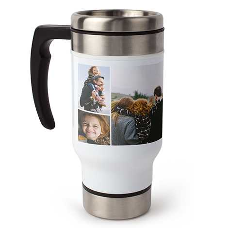 Collage Travel Coffee Mug with Handle, 13 oz.