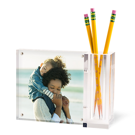 Acrylic Photo Desk Set