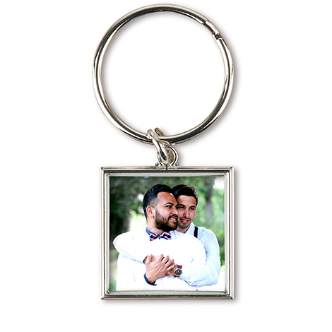 Square Photo Keychain