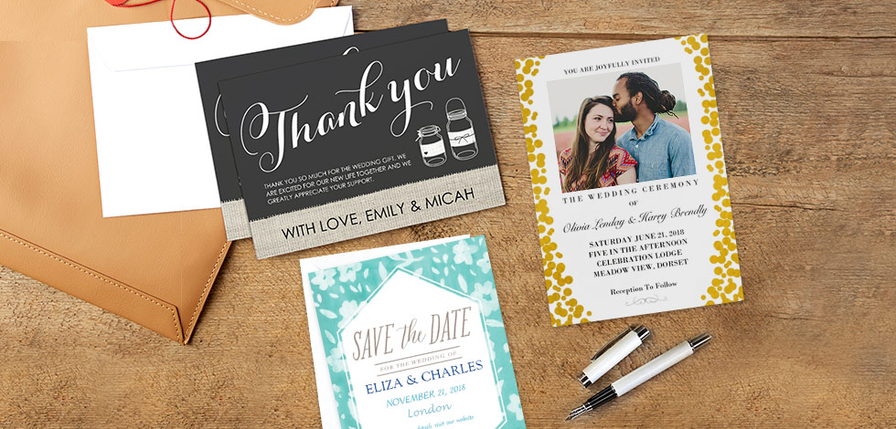 Create personalised wedding cards