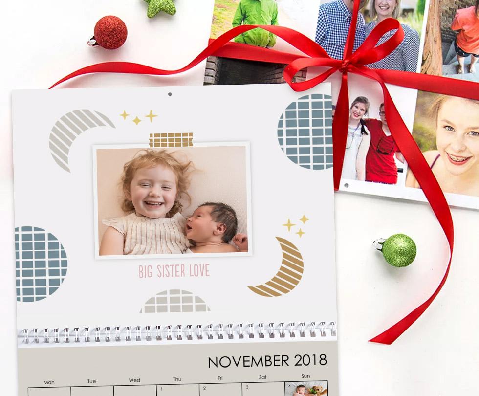 Print personalised photo calendar