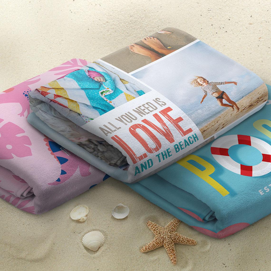 Personalised Beach Towel