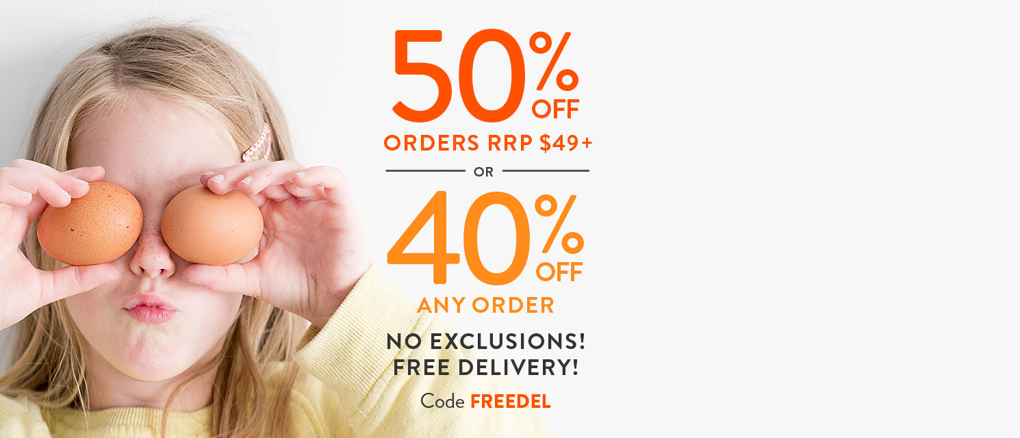 Weekend Bonus : Spend $49 or more and get50% off + free delivery storewide.No exclusions!Ends 19/3