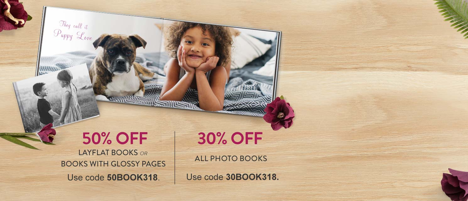 Photo Book Sale : Our premium quality books are now 50% off!Expires on 25/3.
