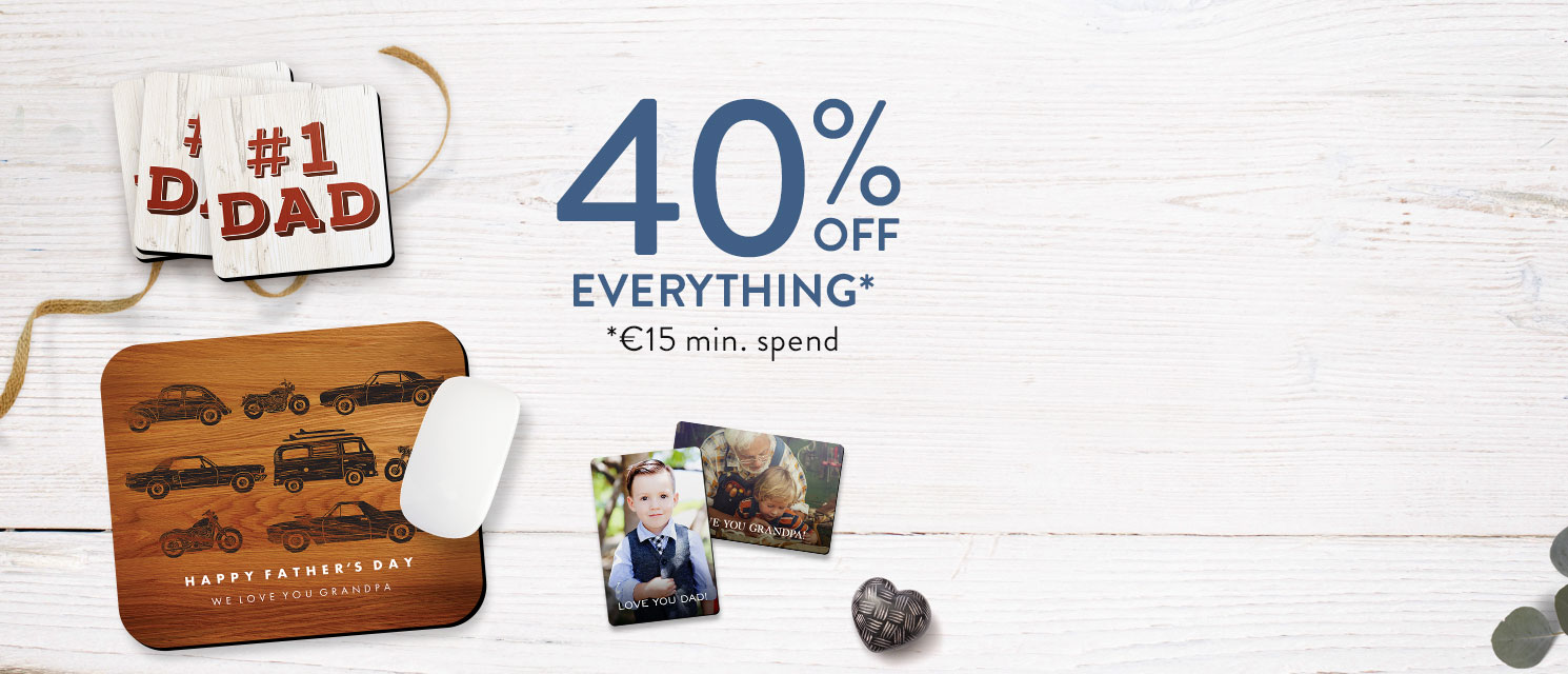 Just for Dad : Treat Dad like a king this Father's Day with 40% off everything*.Use code DAD518 by 27/5.