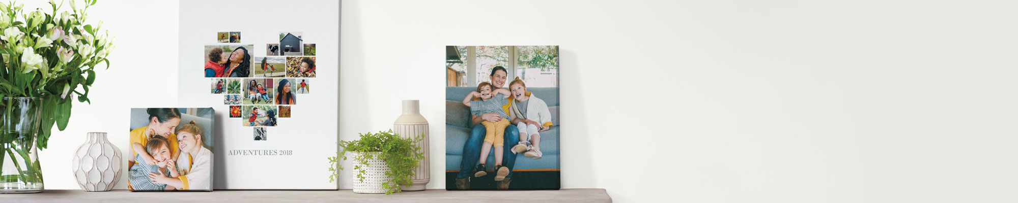 Canvas Prints Our selection of personalised wall art and canvas prints are a great way to easily add a splash of colour to your walls.