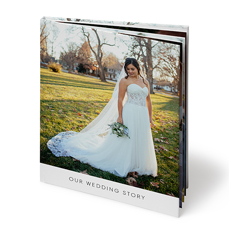 "A4 Portrait Hardcover Layflat Photo Book (8x11"")"