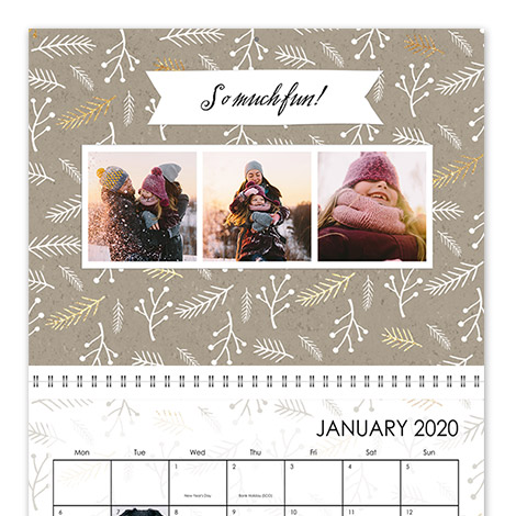 Photo Calendar: Personalised Desk & Wall Calendars | Snapfish UK