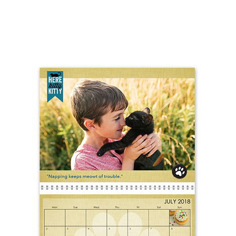"28x43cm Wall Calendar (11x17"")"