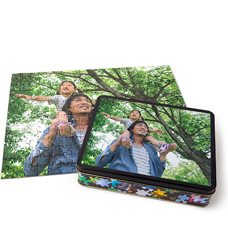 Photo Puzzle with Tin