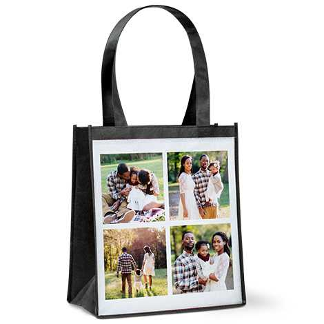 Collage Reusable Grocery Tote Bag