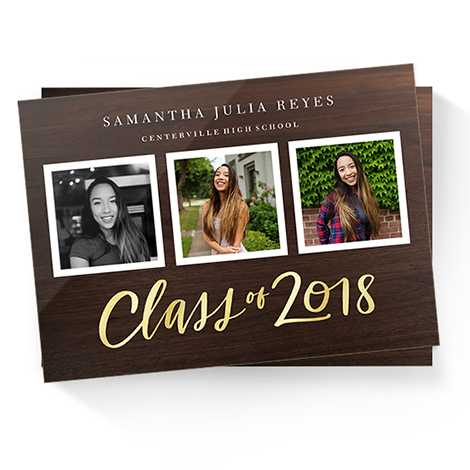 Foil-stamped Graduation Announcements