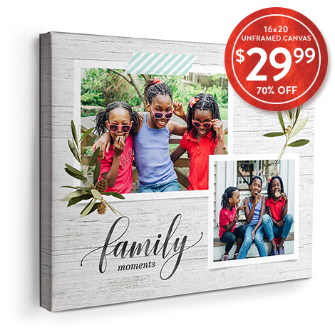 70% off 16x20 Canvas Prints