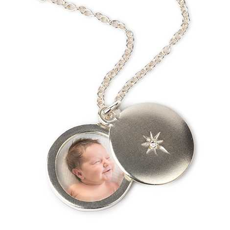 Icon Silver Photo Locket Necklace