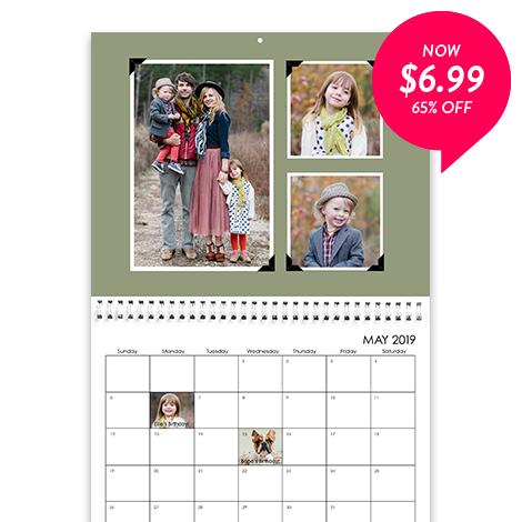 65% off 8x11 Wall Calendar
