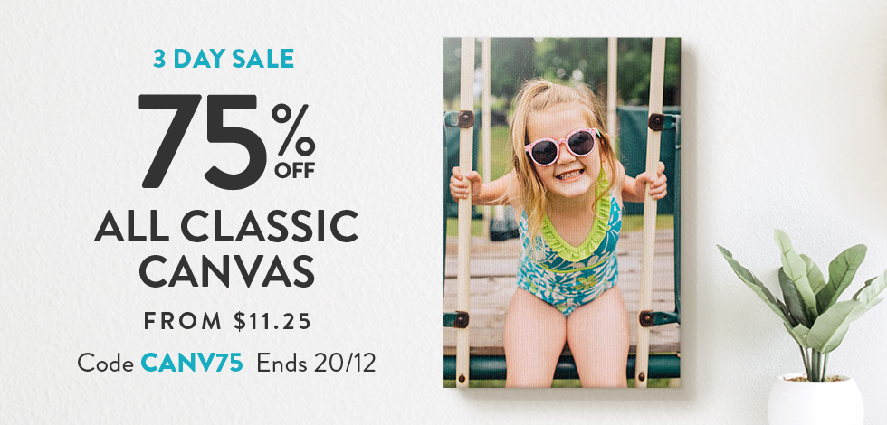 75% off all Classic Canvas