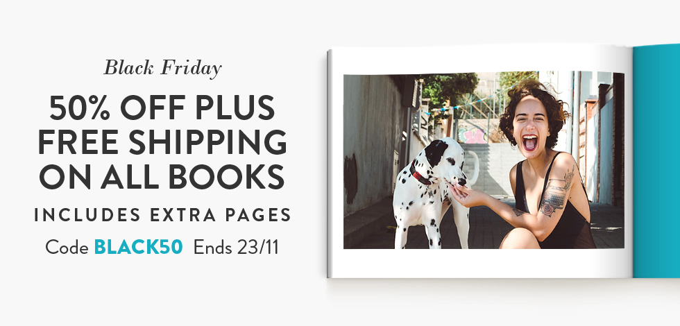 50% off + Free delivery on all Books