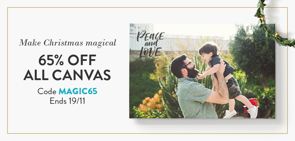 65% off all Canvas