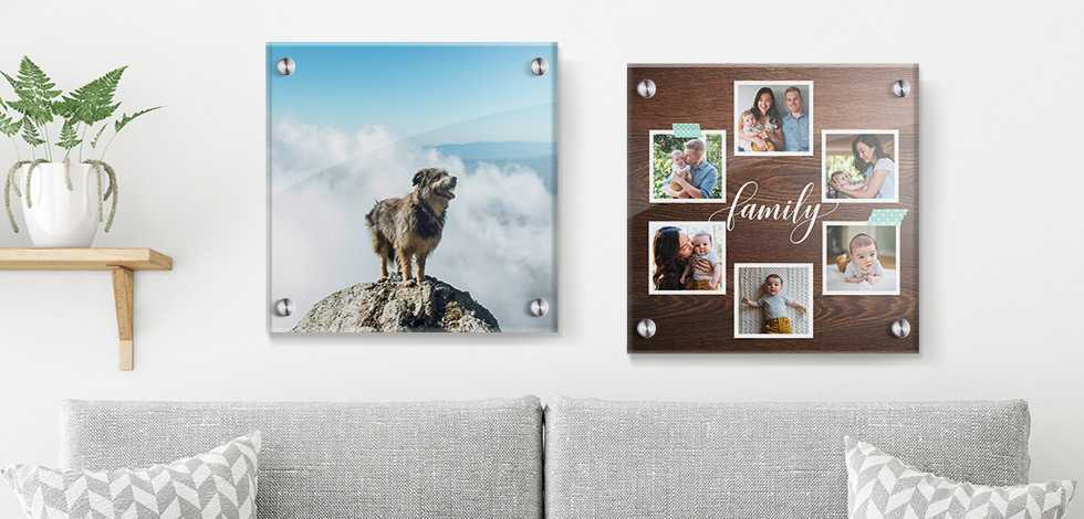 Square Wall-Mounted Acrylic Photo Prints
