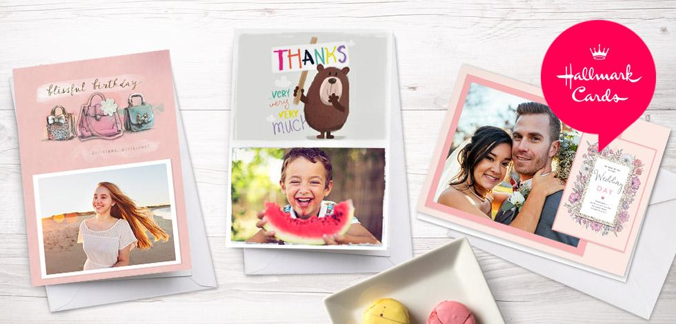 Personalised cards design unique photo cards online snapfish uk hallmark cards m4hsunfo