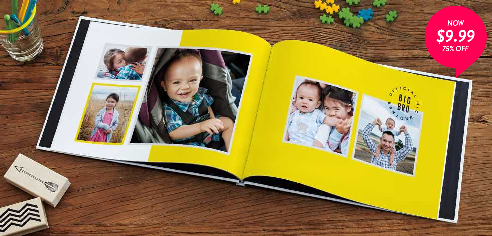 75% off 8x11 Hardcover Photo Books