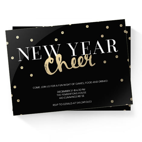 happy new years cards year in review invitation cards