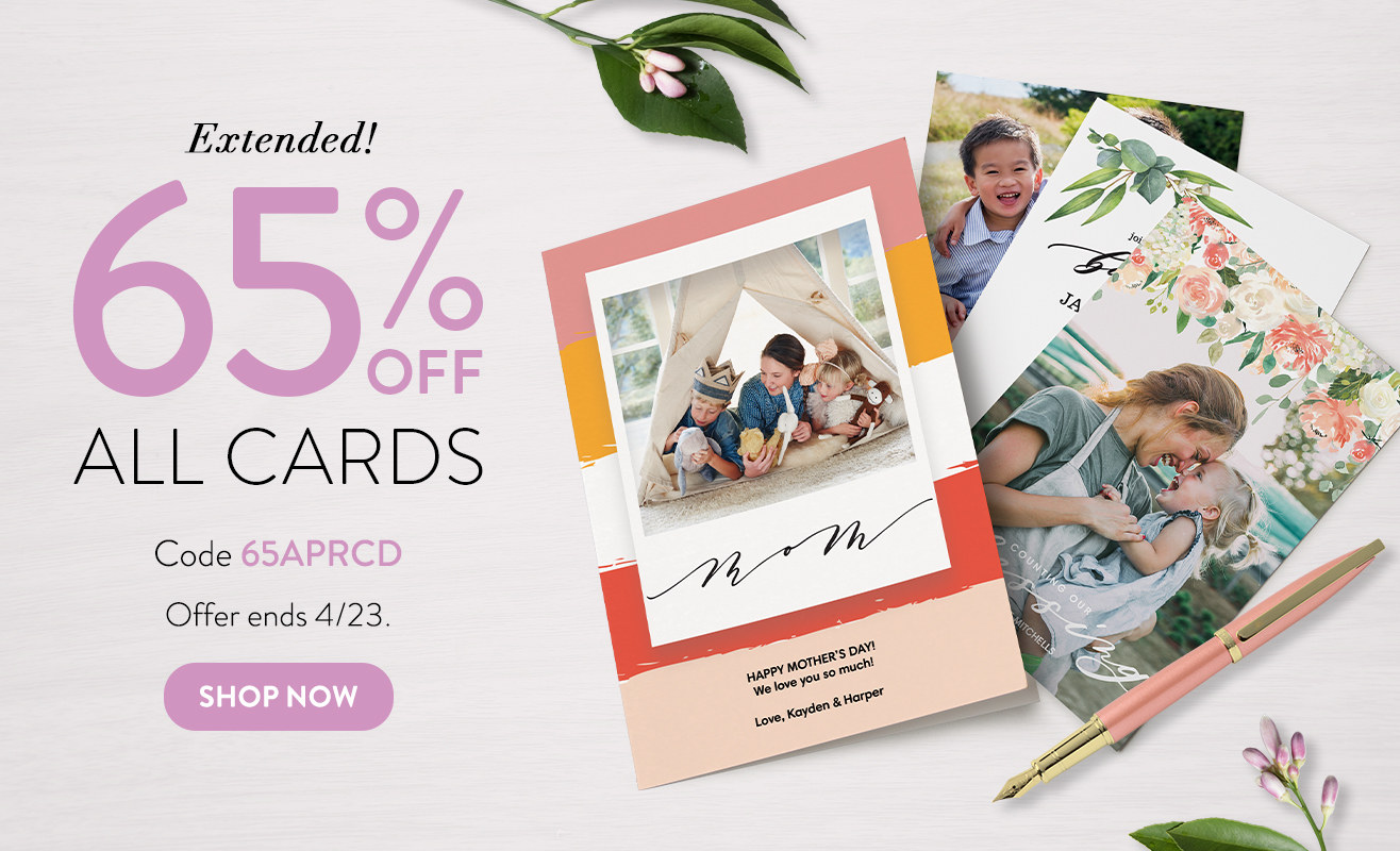 65% off Cards
